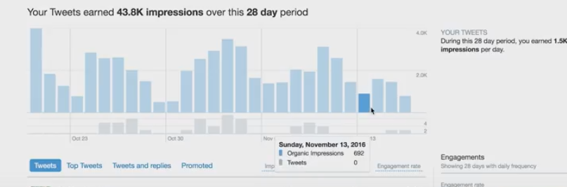 Twitter Analytics to determine audience